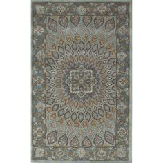An intricate Oriental design and dense, thick pile highlight this handmade rug. This hand crafted rug uses some of the softest wool available that is not only pleasing to the eye but just as desirable to the touch.