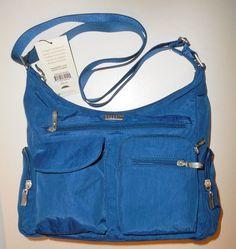 NEW NWT BAGGALLINI Everywhere Bag Blue Crossbody Shoulder Travel Handbag Nylon #Baggallini #MessengerCrossBody