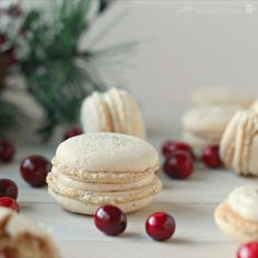 Orange Walnut Macarons with Spiced Cream Cheese and Cranberry Filling {Guest Post by Baking A Moment}