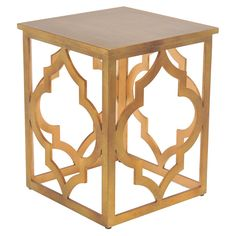 Milo End Table in Gold - Beverly Hills Bungalow on Joss & Main
