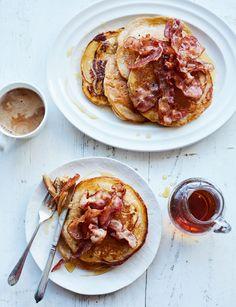 Buttermilk cinnamon pancakes with crispy bacon - Sainsbury's Magazine