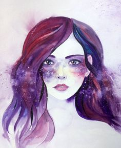 Buy Stars are Freckles of the Galaxy - Portrait of a Girl - Space - Universe…