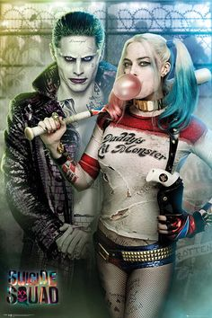 Suicide Squad images 'Suicide Squad' Retail Poster ~ The Joker and Harley Quinn fond d'écran and background photos