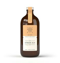 Ginger Ale syrup Our ginger ale syrup is made from fresh ginger root for spice and a full gingery flavour, a little black pepper for heat and organic cane sugar for a rich natural sweetness. Try it with a wedge of lime or in gin, rum, vodka or American whiskey drinks.