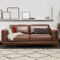 Dekalb Leather Sofa   West Elm