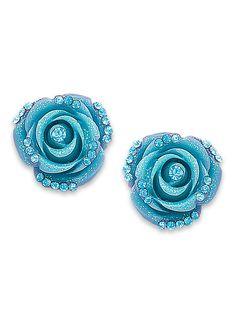 Lavish Rosette Earrings at http://www.AmeriMark.com.