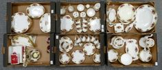 Collectors & General Auction – Lot 133 – A large collection of Royal Albert Old Country Roses pottery dinner, tea and coffee ware, also tablecloth, cutlery, coasters, etc. ( 6 trays, approx 112 items).  Sale Price £260.00.