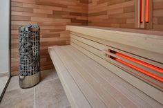 Infrared sauna by VSB Wellness - Infrarood sauna gemaakt door VSB Wellness Sauna Infrarouge, Sauna Hammam, Saunas, Design Sauna, Indoor Sauna, Sauna Steam Room, Spa Rooms, Steam Showers, Dream Rooms