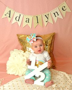 What's Cuter Than A Baby Pictures? Number photo props are perfect for any child photo shoot! // Handcrafted Photo Props, Gifts & Party Decor for Kids and Adults at www.ZCDGifts.com or ZCDGifts on Etsy