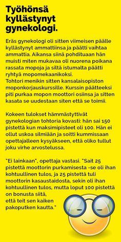 Vitsit: Työhänsä kyllästynyt gynekologi - Kohokohta.com