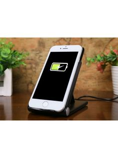Qi Wireless Smartphone Charger and stand will hold your smartphone while wireless charging it so you have great convenience and much less hassle when charging Cheap Mobile, Solar Charger, Car Bluetooth, Portable Battery, Cool Gadgets, Cell Phone Accessories, Smartphone, Ipad, Iphone