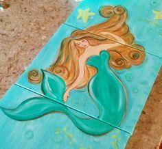 My 3 piece canvas Mermaid