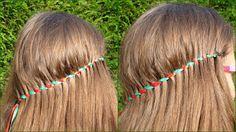 Miriam's Vlecht Lessen (Miriam's braiding instructions): Watervaltwist met lint // Ribbon waterfall twist