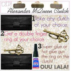 DIY Alexander McQueen clutch DIY Refashion DIY Bag DIY Clutch