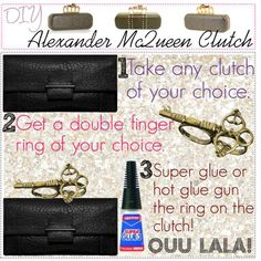 DIY Alexander McQueen clutch DIY Refashion DIY Bag DIY Clutch