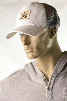 de3b829d862 Z-brand Hat Men s 6 Panel Mesh Desert Khaki Retro Trucker Cap RARE OS
