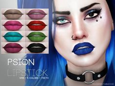The Sims Resource: Psion Lipstick N118 by Pralinesims • Sims 4 Downloads