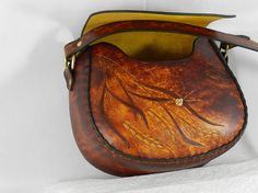 Retro diseño Latigo cuero bandolera con por KawValleyLeather