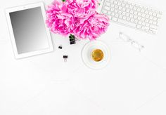 Feminine office workplace by LiliGraphie on @creativemarket