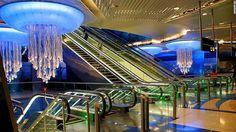 Khalid Bin Al Waleed subway station in Dubai Khalid, Palm Jumeirah, Union Station, Metro Station, Beautiful Architecture, Art And Architecture, Lisbon Airport, U Bahn Station, Street Culture