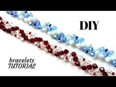 How to DIY elegant bracelets? Learn how to make your own jewelry for your evening dress with a simple beading pattern. Youll need seed beads and bicone beads with colors of your choice. Beaded Bracelet Patterns, Beading Patterns, Beaded Bracelets, Ankle Bracelets, Jewelry Making Tutorials, Beading Tutorials, Crystal Choker, Bracelet Tutorial, Necklaces