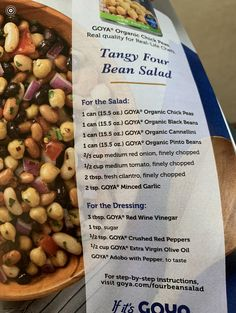 Healthy Food, Healthy Eating, Healthy Recipes, Four Bean Salad, Veggie Side, Salad Ideas, Pinto Beans, Side Recipes, Mexican Food Recipes
