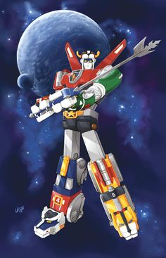 Voltron was my first robot love, then Robotech and then Transformers. As a kid I would try to read the credits to see if I can get the nam. 80s Voltron, Voltron Force, Voltron Poster, Looney Tunes, 1980 Cartoons, Robot Cartoon, Cartoon Tv Shows, Cartoon Characters, Mecha Anime