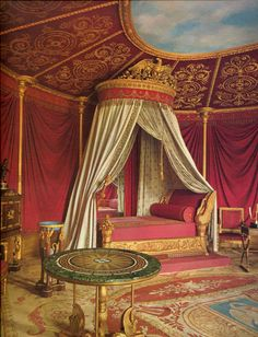 Empress Josephine's pink bedroom at the Malmaison, France