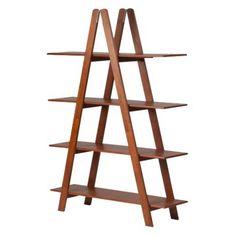 Madison A-Frame Bookshelf - Walnut