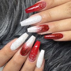 : christmas nail ideas, white silver red winter nail art, winter nail art designs winternails christmasnail Winternägel silber Christmas Nail Art Designs To Look Trendy This Season Fabmood Chistmas Nails, Cute Christmas Nails, Xmas Nails, Holiday Nails, Red Nails, Winter Christmas, Red Glitter Nails, Christmas Acrylic Nails, Christmas Makeup