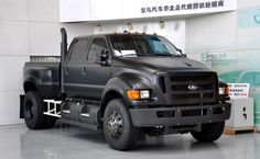 Ford F-650 Black Matte Color