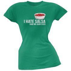 Cinco de Mayo - I Hate Salsa Black Juniors Soft T-Shirt