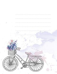 biclycle flowers notes