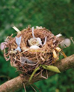 Porta-alianzas de musgo y tipo nido 14