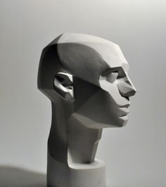 "John Asaro Vintage Ceramic ""Planes of the Head""."