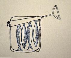 dessin boîte de sardines                                                                                                                                                                                 Plus