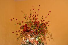 Christmas+Decorating+with+Mesh+Ribbon | Decorating A Christmas Tree With Mesh Ribbon Tutorial