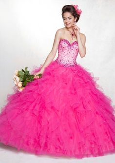 Elegant Sweetheart Sleeveless Floor-Length Tulle with Beading Quinceanera Dresses Puffy Prom Dresses, Big Dresses, Quince Dresses, Sweet 16 Dresses, Elegant Dresses, Beautiful Dresses, Formal Dresses, Dress Prom, Pink Dress