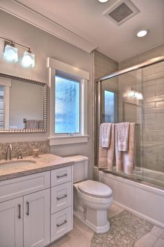 bathroom, maybe one day do master bath like this since its the same layout.