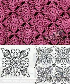 Transcendent Crochet a Solid Granny Square Ideas. Inconceivable Crochet a Solid Granny Square Ideas. Crochet Motif Patterns, Granny Square Crochet Pattern, Crochet Diagram, Crochet Squares, Crochet Chart, Thread Crochet, Crochet Granny, Crochet Designs, Crochet Stitches