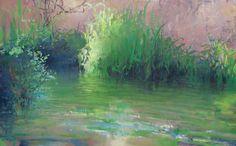 Painter's Process - Randall David Tipton Metolius Morning oil on canvas 30x48