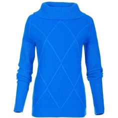 Damen Rollkragenpullover mit Merinowolle und Angora ($160) ❤ liked on Polyvore featuring tops, sweater pullover, blue top and boxy top