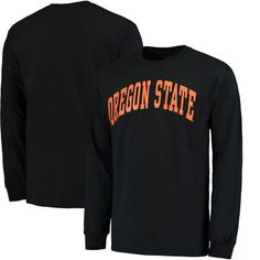 Oregon State Beavers Basic Arch Long Sleeve T-Shirt - Black - $17.99