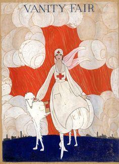 'Red Cross Girl' illustration for Vanity Fair, 1918.
