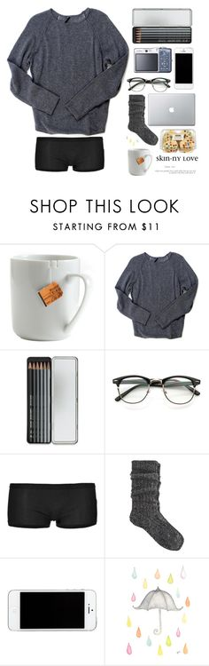 """Rainy day without your lips"" by fashgirl-xx ❤ liked on Polyvore featuring le mouton noir & co., Endovanera, Caran D'Ache, Schiesser Revival and River Island"