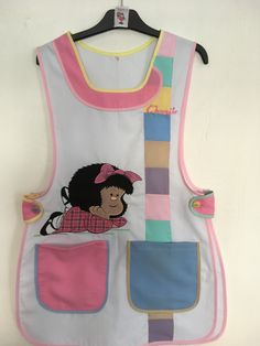 Modelo arcoíris Tergal tonos pastel Bordado Mafalda Scrubs Outfit, Girl Dress Patterns, Medical Scrubs, Disney Mickey Mouse, Creative Cards, Needlework, Apron, Sewing Projects, My Favorite Things