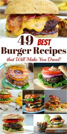 You might as well go grab your drool napkin because you won't be able to help yourself while browsing the Best Burger Recipes! 49 Best Burger Recipes that Will Make You Drool! - 49 Best Burger Recipes that Will Make You Drool! Burger Menu, Burger Toppings, Gourmet Burgers, Good Burger, Burger Ideas, Burger Party, Amazing Burger, Pizza Burgers, Turkey Burgers