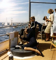 Jacqueline Kennedy's yachting style.
