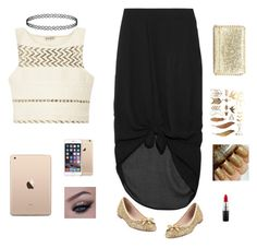 """""""new year's Eve"""" by hibaxoxo ❤ liked on Polyvore featuring SUNO New York, Minimarket, Kate Spade and MAC Cosmetics"""