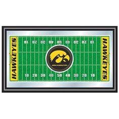Trademark Commerce IA1500F University of Iowa Football Field Framed Mirror